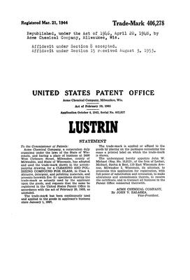 LUSTRIN Details, a Report by Trademark Bank | Calendar Your