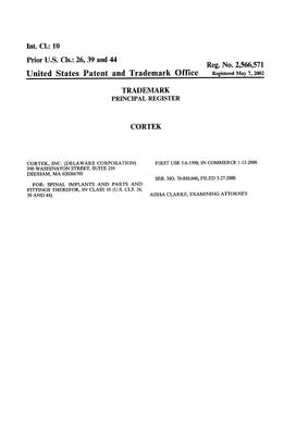CORTEK Details, a Report by Trademark Bank | Calendar Your