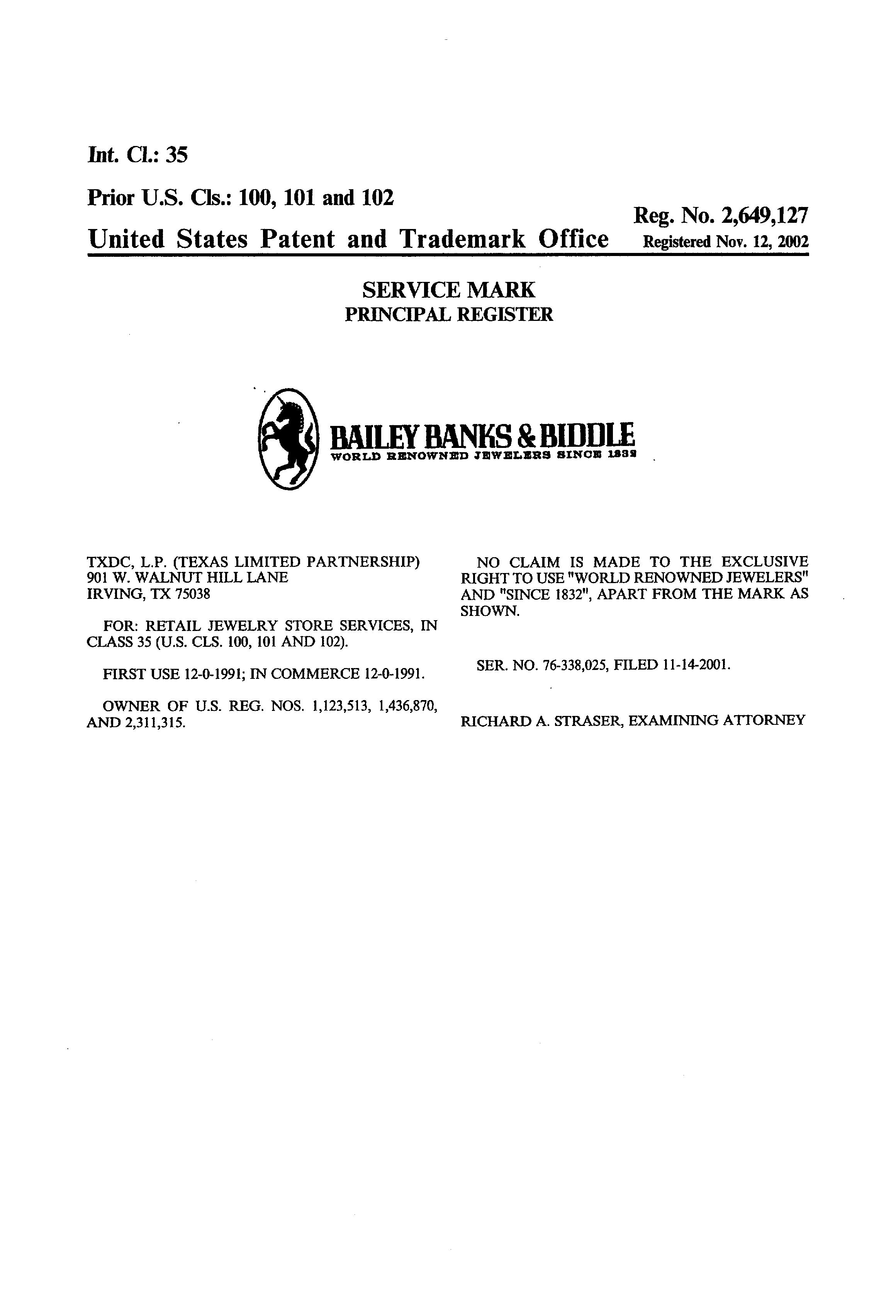 Bailey Banks Biddle World Renowned Jewelers Since 1832 Details A Report By Trademark Bank Calendar Your Mark Monitor Similar Marks