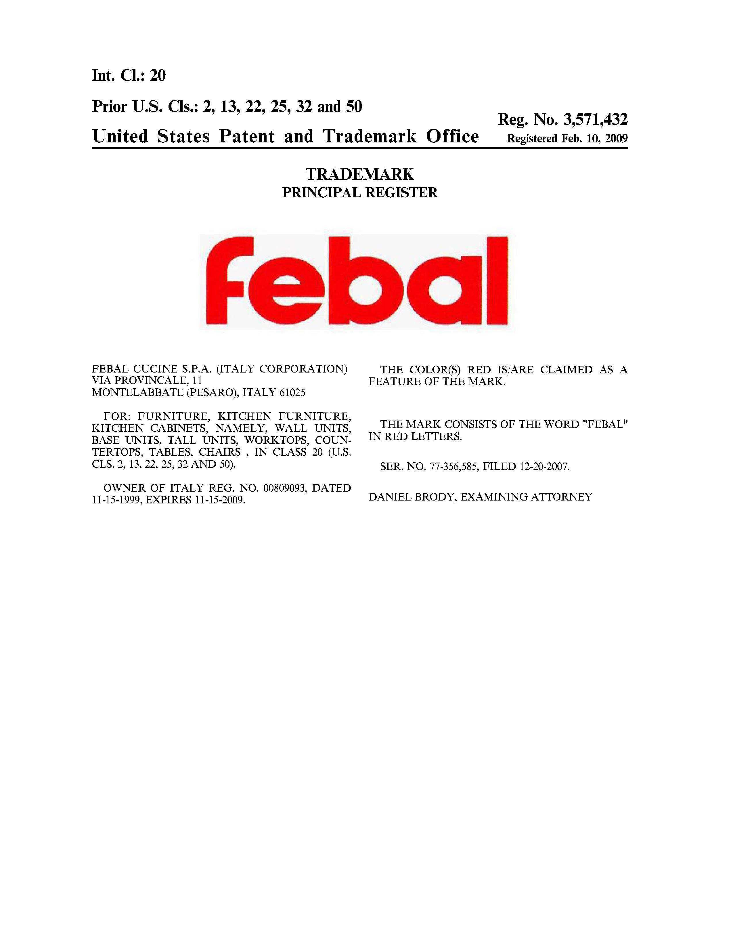 FEBAL Details, a Report by Trademark Bank | Calendar Your Mark ...