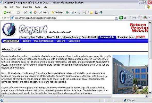 Copart Home Page >> Copart Details A Report By Trademark Bank Calendar Your Mark
