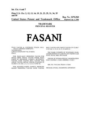 FASANI Details, a Report by Trademark Bank | Calendar Your