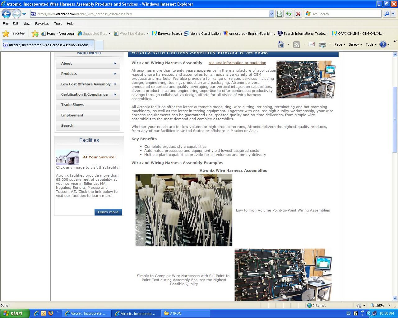 Atronix Details A Report By Trademark Bank Calendar Your Mark Wire Harness Test Equipment Thank You For Using To Search The This Was Filed Cable Assembly Acquisition Corpatronix Inc On 05 12 2010 Goods