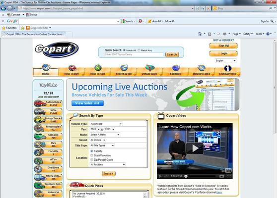 Copart Home Page >> Copart Details A Report By Trademark Bank Calendar Your